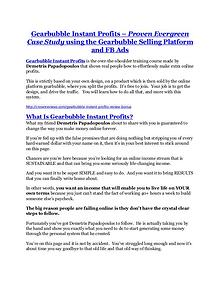 Gearbubble Instant Profits review in detail – Gearbubble Instant Profits Massive bonus