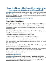Local Lead Drop review & huge +100 bonus items