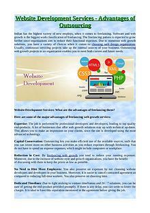 Website Development Services - Advantages of Outsourcing