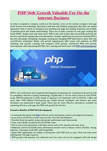 PHP Web Growth Valuable For On the internet Business.pdf