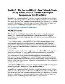 Levidio 5 Review & HUGE $23800 Bonuses
