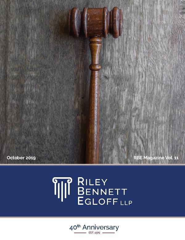 Riley Bennett Egloff Magazine Oct 2019 Magazine