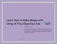 Learn How to Make Money with Using of Free Classified Ads