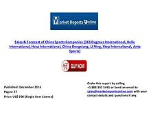 China Sports Companies Sales & Forecast ( 2010- 2020)