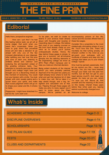 Issue 0, July 2014