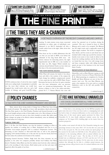 Issue One, August 2014