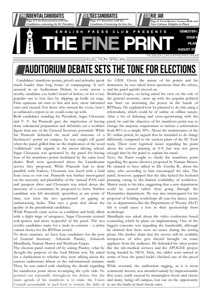 The Fine Print Election Issue 2014