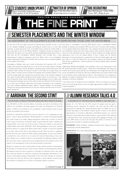 Issue One, January 2015