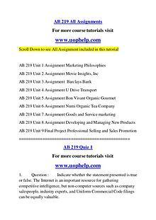 AB 219 Endless Education /uophelp.com