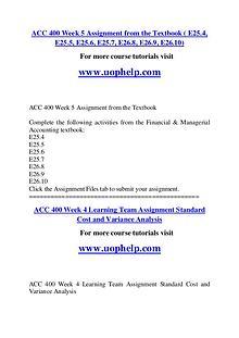 ACC 400 Endless Education /uophelp.com