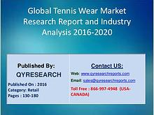 Global Tennis Wear Market 2016 Industry Trends, Growth, Analysis