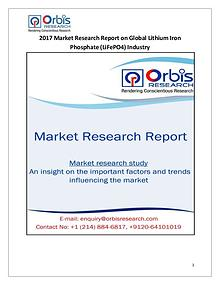 New Study: Global Lithium Iron Phosphate (LiFePO4) Market Trend & For