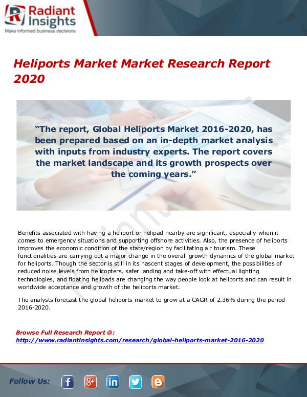 Research Analysis Reports Heliports Market