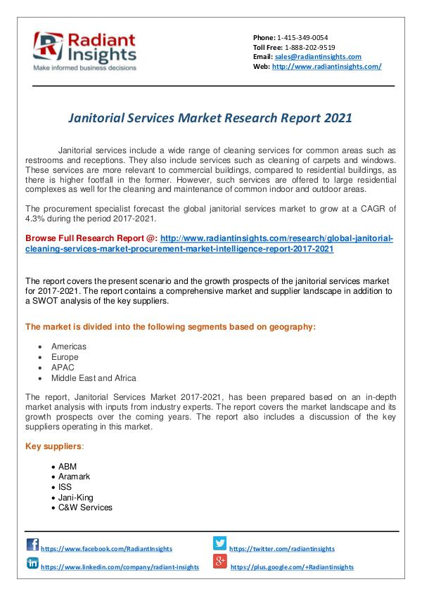 Research Analysis Reports Janitorial Services Research Report
