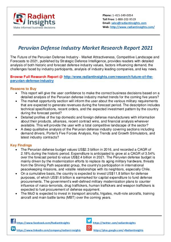 Research Analysis Reports Peruvian Defense Industry Report