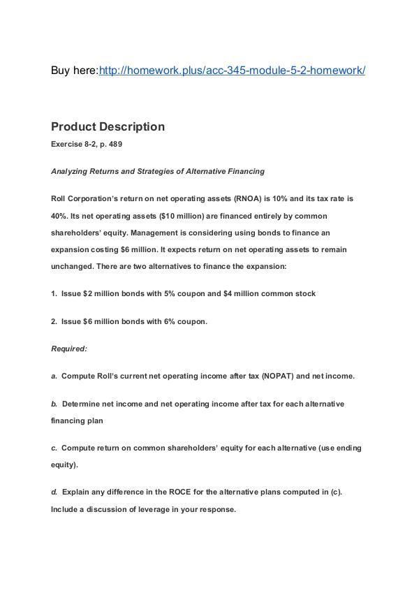 ACC 345 Module 5-2 Homework SNHU