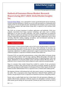 Consumer Drone Market Analysis