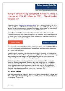 Earthmoving Equipment Market forecast