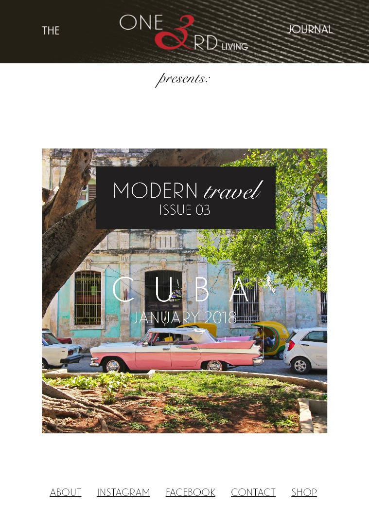 Modern Travel/ Issue 03/ January 2018