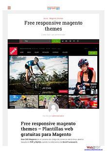 Free responsive magento themes