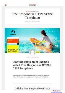 Free Responsive HTML5 CSS3 Templates