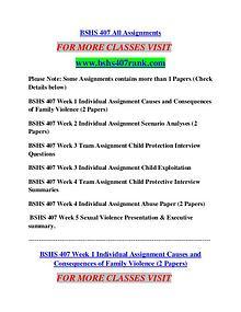 BSHS 407 RANK Career Begins/bshs407rank.com