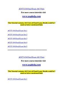 ACCT 434 Endless Education /uophelp.com