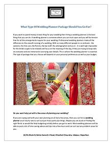 What Type Of Wedding Planner Package Should You Go For?
