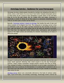 Astrology Service - Guidance for Love Horoscopes