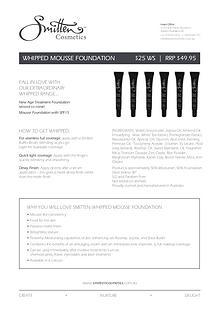 Smitten Cosmetics Product Information