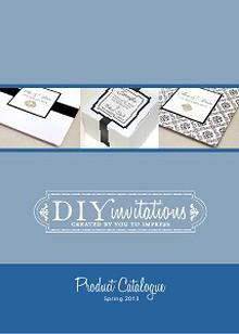DIY Invitaitons Catalogue Spring 2013