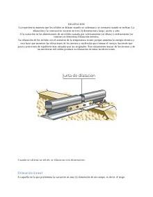 dilatación de solidos