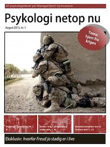 Psykologi netop nu, nr. 1, august 2013