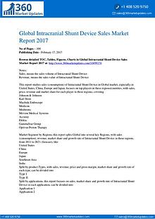 Intracranial Shunt Device Market Growth Opportunities, Sales, Revenue