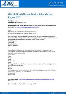 Blood Glucose Device Market Growth Opportunities, Sales, Revenue