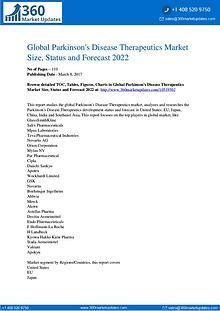 Global Parkinson's Disease Therapeutics Market Analysis