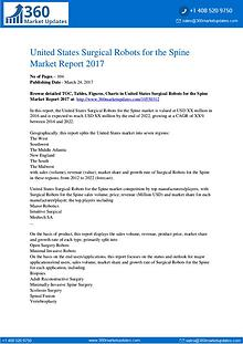 US Surgical Robots for the Spine Market Analysis and Prediction