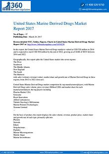 US Marine Derived Drugs Market by Product Types, Application