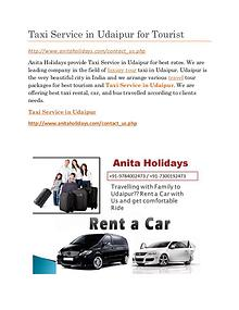 Taxi Service in Udaipur Full Day