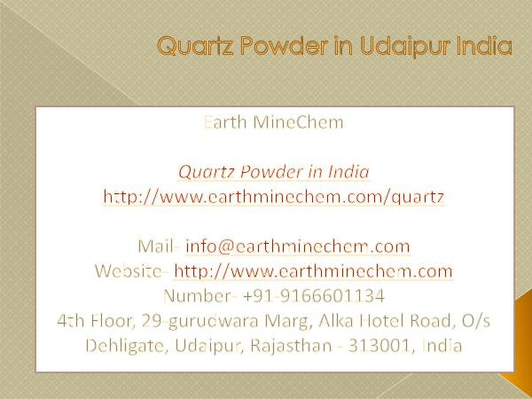 Quartz Powder in India Price Quartz Powder in Udaipur India