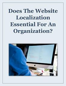 Does The Website Localization Essential For An Organization