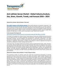 Anti-collision Sensor Market Growth, Price, Demand, and Analysis
