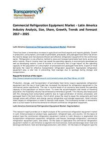 Commercial Refrigeration Equipment Market 2017 Analysis and Forecast