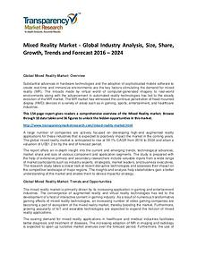 Mixed Reality Market Size, Share, Demand and Forecasts To 2024