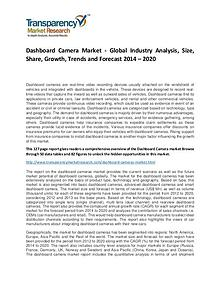 Dashboard Camera Market Growth, Demand, Price and Forecasts To 2022