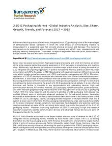 2.5D IC Packaging Market Trends, Growth, Price and Forecasts To 2024