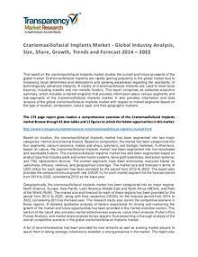 Craniomaxillofacial Implants Market 2014 World Analysis and Forecast
