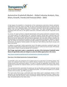 Automotive Crankshaft Global Market Analysis 2015 and Forecast