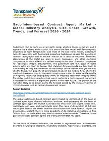 Gadolinium-based Contrast Agent Global Analysis & Forecast to 2024