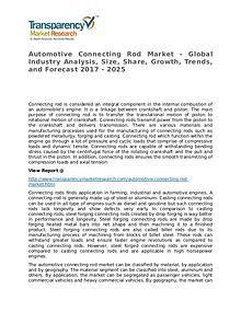 Automotive Connecting Rod Market – Analysis and Forecasts To 2017